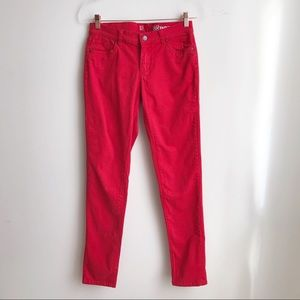 NY & Co Low Rise Red Skinny Pants size 4